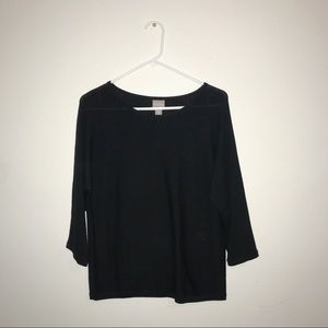 Chico's Black Pull-Over Sweater